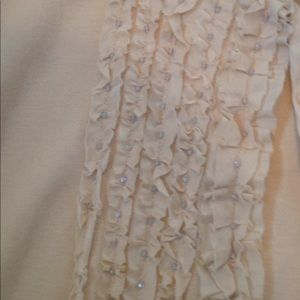 J. Crew Sweaters - Sweet ruffle front cardigan, light champagne color